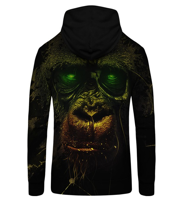 Dark Chimpanzee Zip Up Hoodie Thumbnail 2