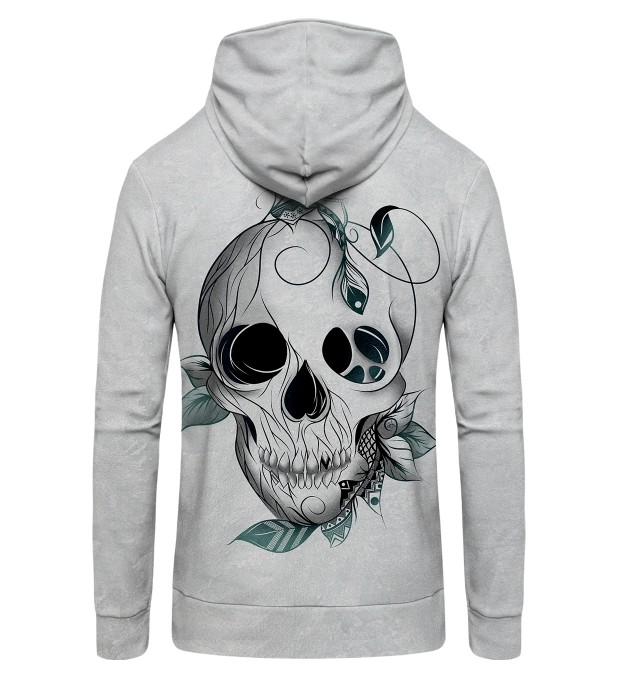 Leaf skull Zip Up Hoodie Thumbnail 2