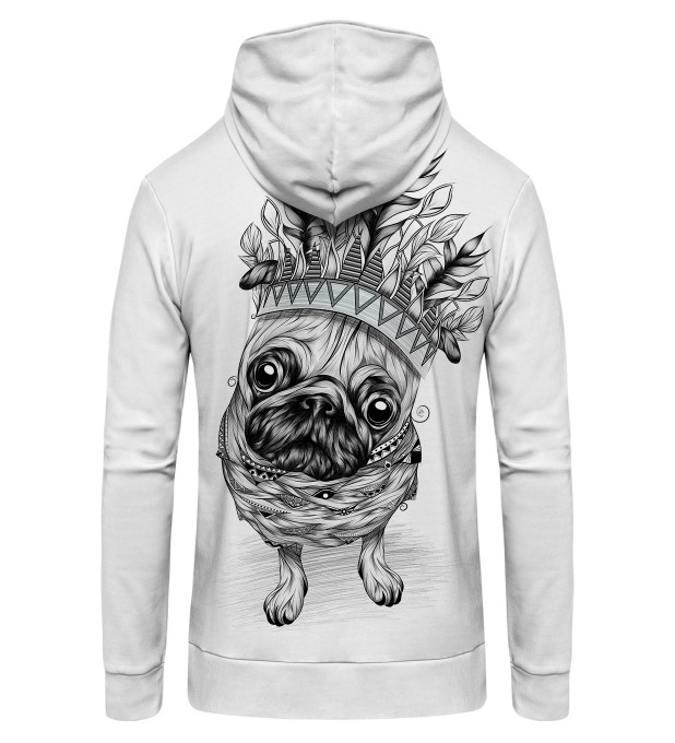 King Pug Zip Up Hoodie Thumbnail 2