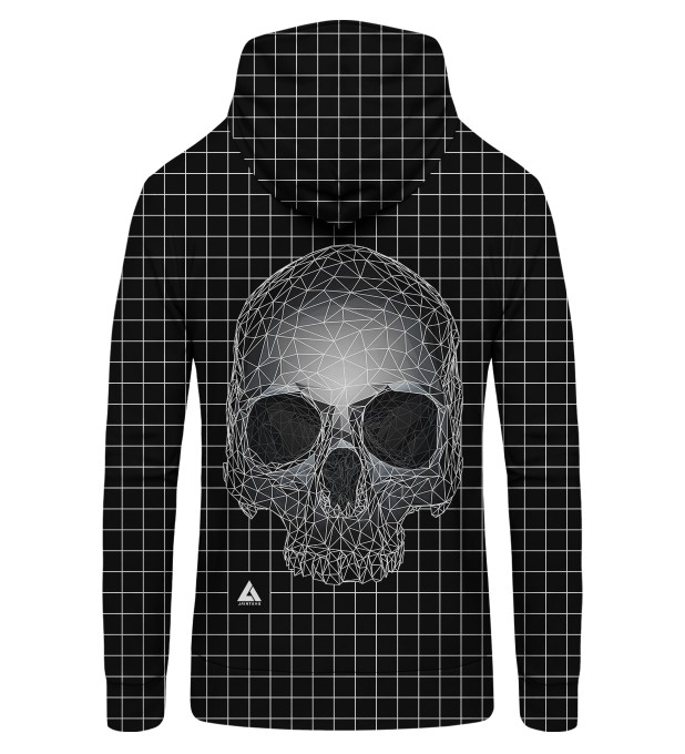 Square Skull Zip Up Hoodie Thumbnail 2