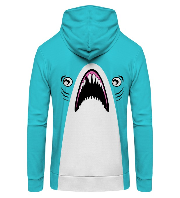 Blue Shark Zip Up Hoodie Thumbnail 2