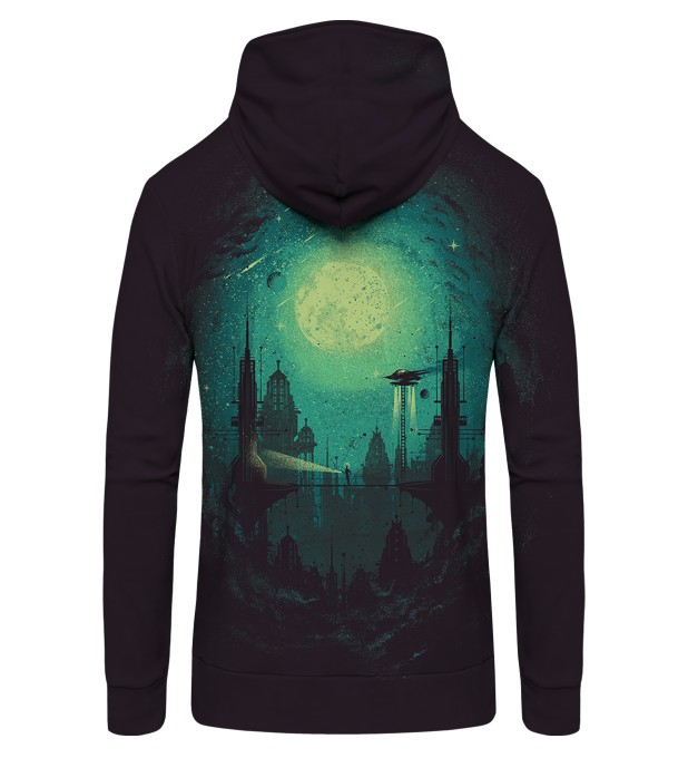 Futuristic City Zip Up Hoodie Thumbnail 2
