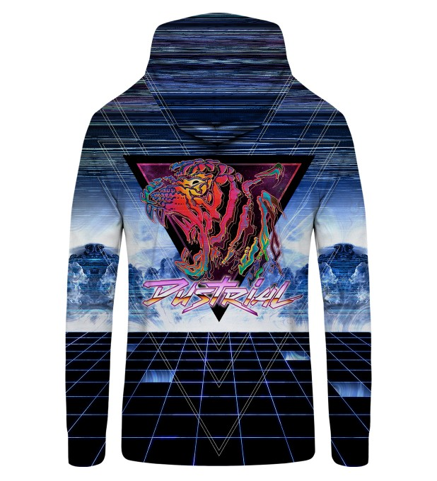 80'S Tiger Zip Up Hoodie Thumbnail 2