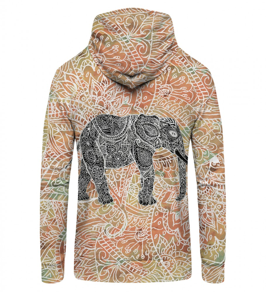 Mr. Gugu & Miss Go, Indian Elephant Zip Up Hoodie Image $i