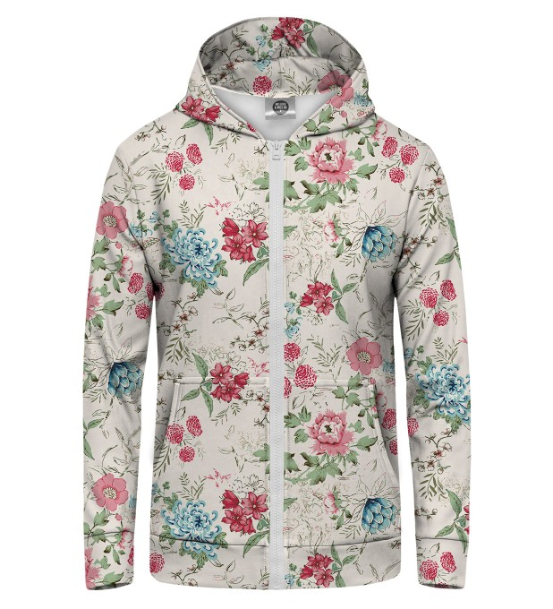 Flowers Sketch Zip Up Hoodie Thumbnail 1