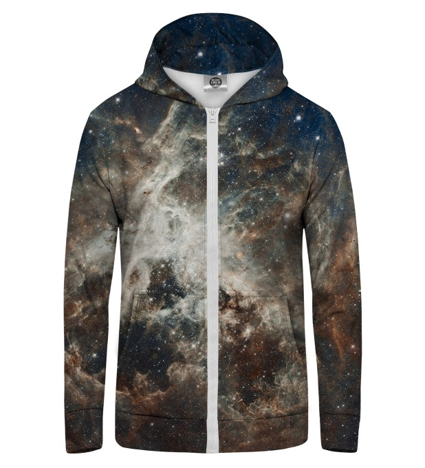 Golden Blue Galaxy Zip Up Hoodie Miniature 1