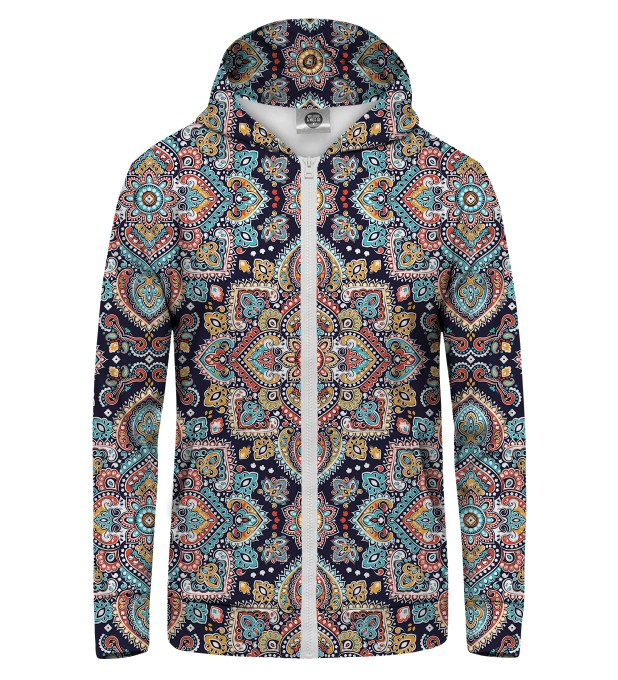Regional Pattern Zip Up Hoodie Thumbnail 1