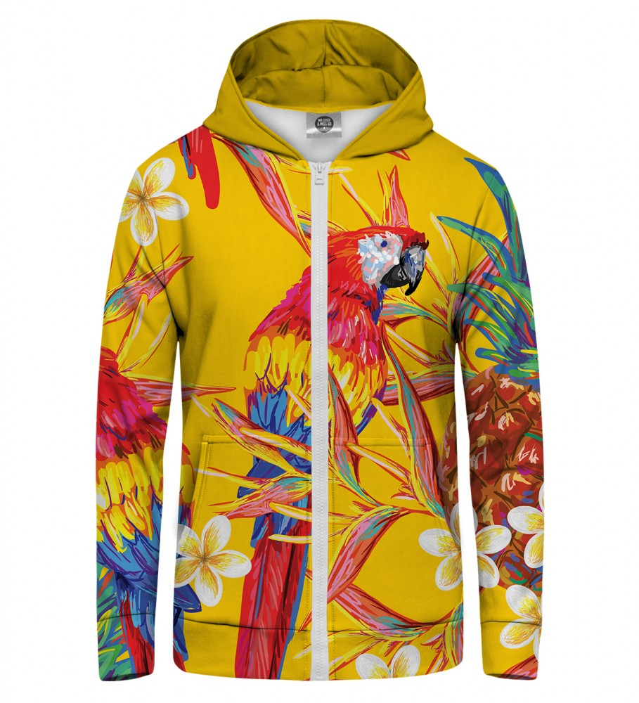 Mr. Gugu & Miss Go, Paradise parrots  Zip Up Hoodie Image $i