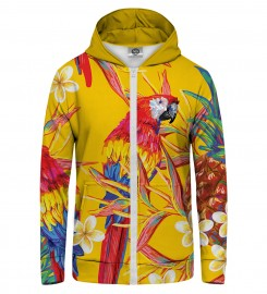Mr. Gugu & Miss Go, Paradise parrots  Zip Up Hoodie Miniature $i