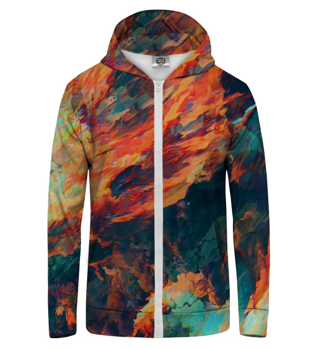 Sky is burning Zip Up Hoodie Thumbnail 1