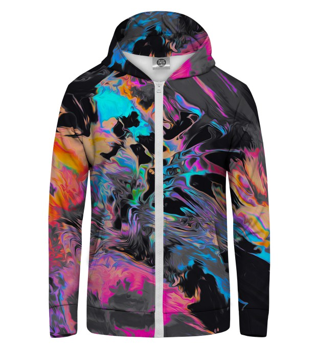 Space colours Zip Up Hoodie Miniature 1