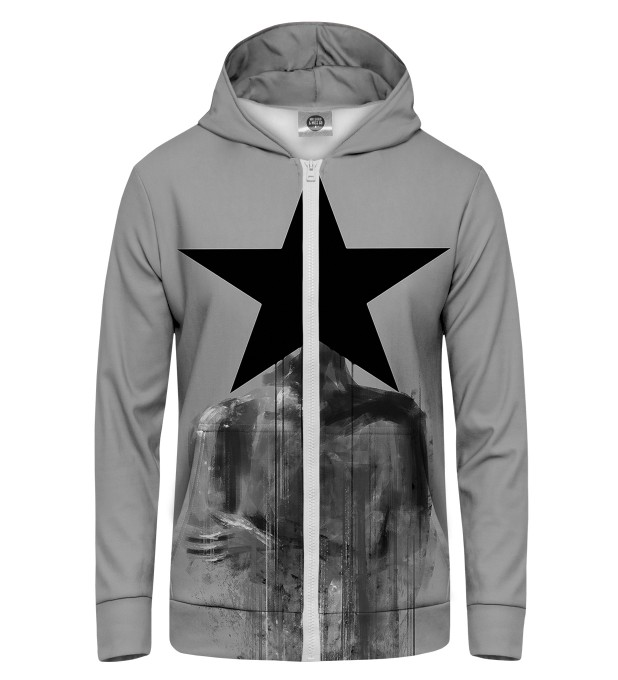Black Star Zip Up Hoodie Miniature 1