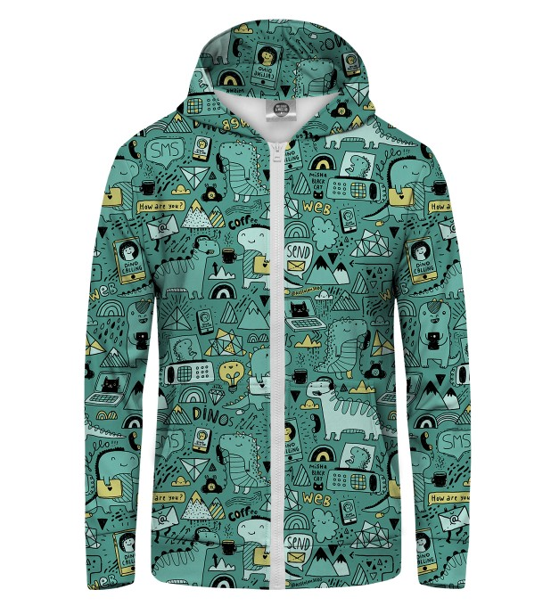 Dino Tech Zip Up Hoodie Thumbnail 1