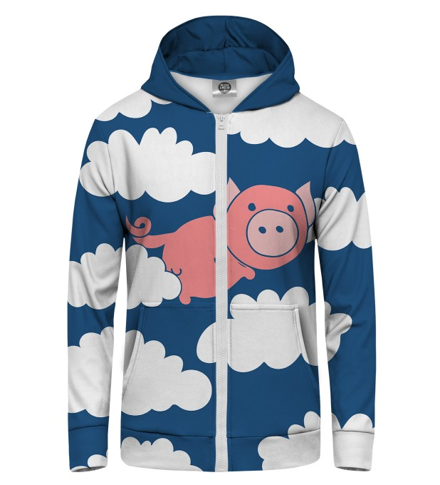 Flying Pigs Zip Up Hoodie Miniature 1