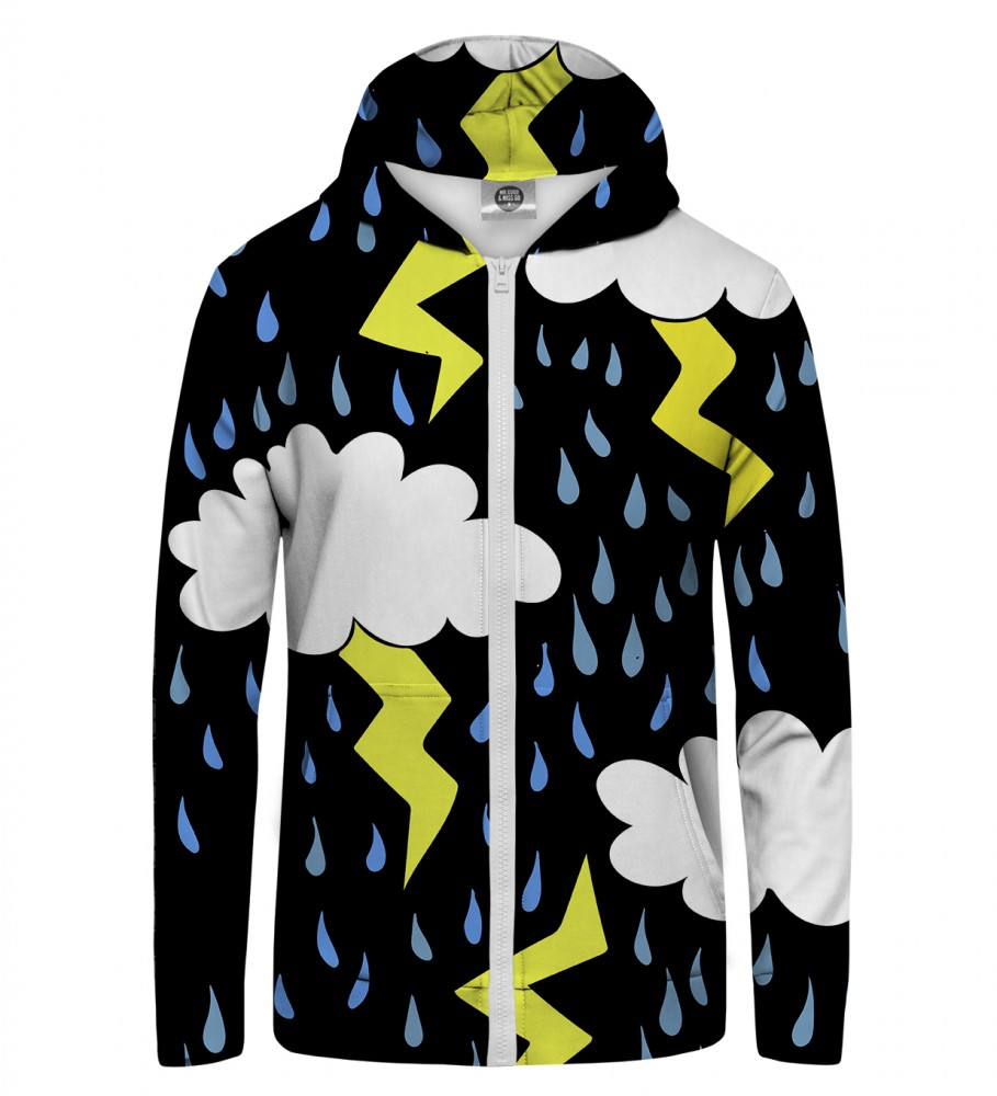 Mr. Gugu & Miss Go, Comic lightning Zip Up Hoodie Image $i
