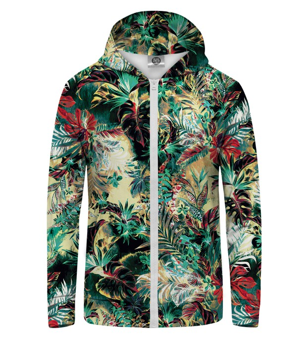 Tropical Jungle Zip Up Hoodie Thumbnail 1