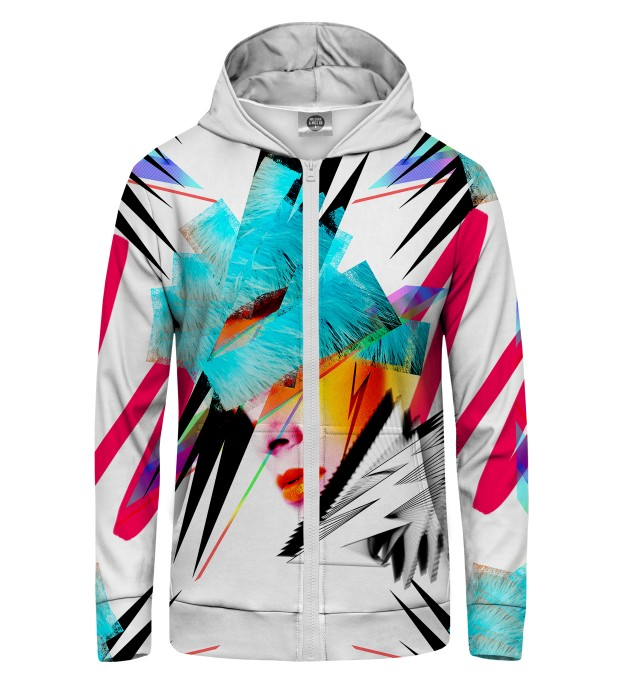 Pop-art Face Zip Up Hoodie Miniature 1