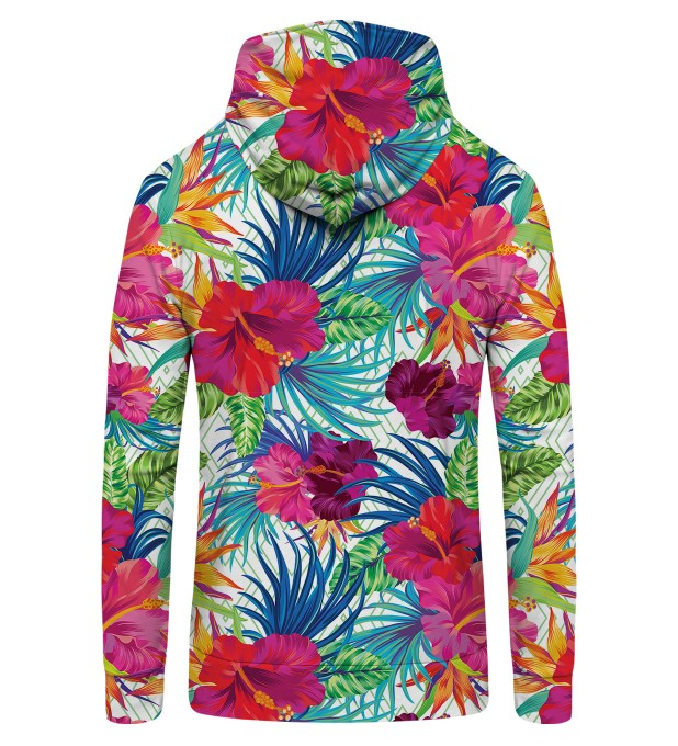 Jungle Flowers Zip Up Hoodie Thumbnail 2