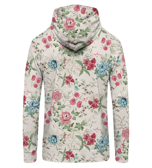 Flowers Sketch Zip Up Hoodie Miniatura 2