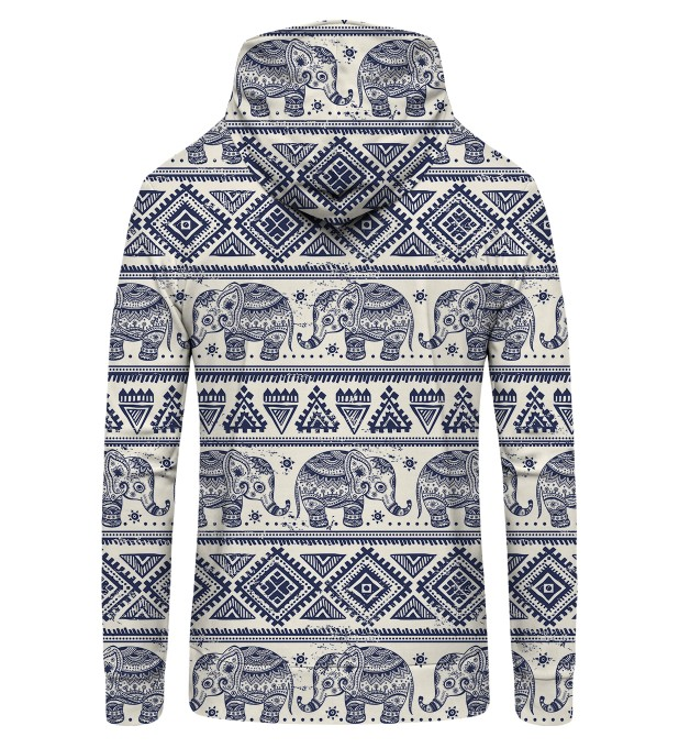 Elephants Pattern Zip Up Hoodie Thumbnail 2