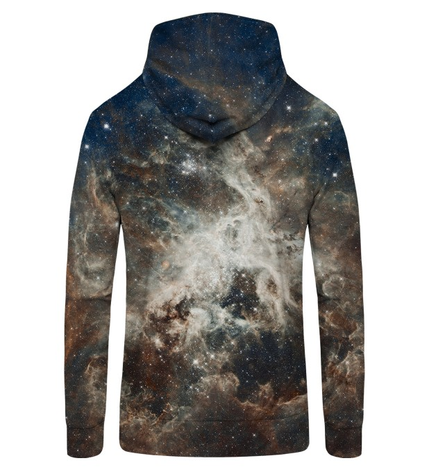 Golden Blue Galaxy Zip Up Hoodie Miniature 2