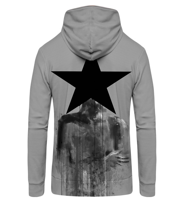 Black Star Zip Up Hoodie Thumbnail 2