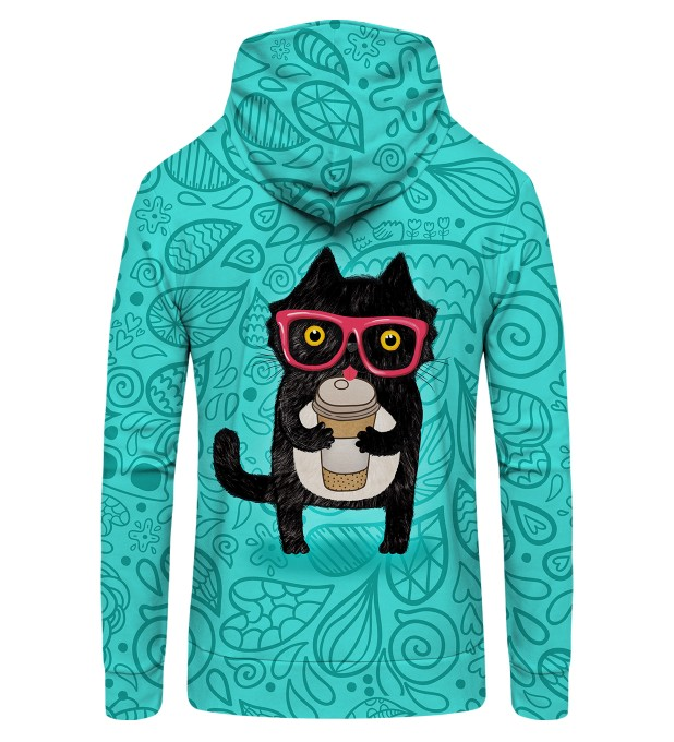 Coffee Cat Zip Up Hoodie Thumbnail 2
