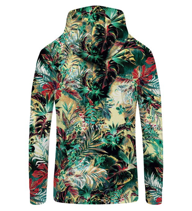 Tropical Jungle Zip Up Hoodie Thumbnail 2