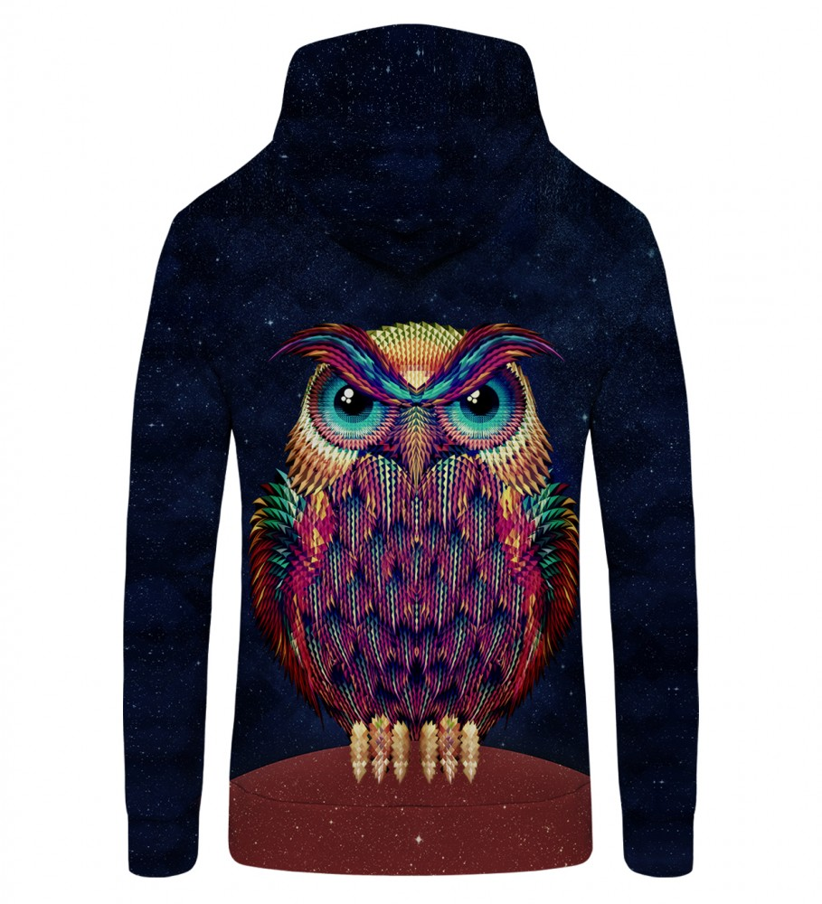 Mr. Gugu & Miss Go, Space Owl Zip Up Hoodie Image $i