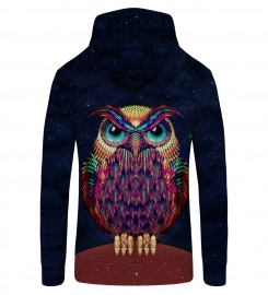 Mr. Gugu & Miss Go, Space Owl Zip Up Hoodie Thumbnail $i