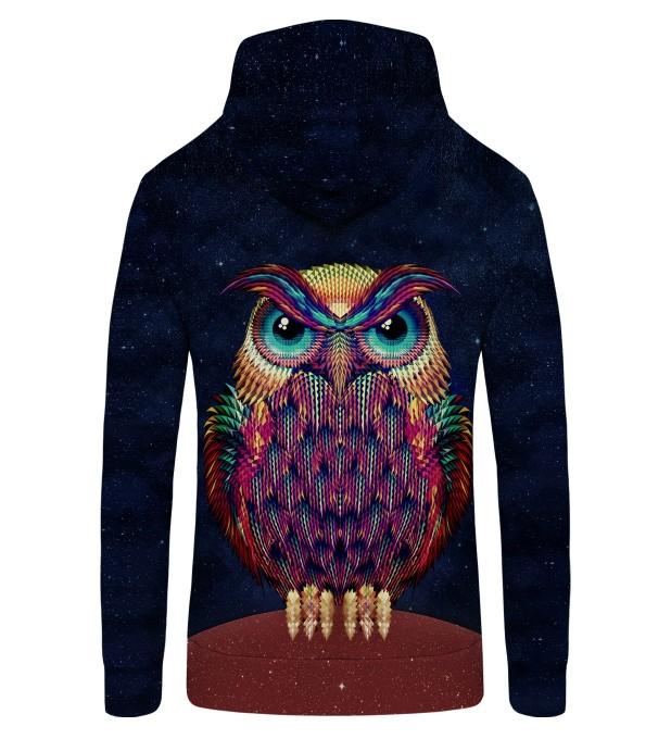 Space Owl Zip Up Hoodie Thumbnail 2