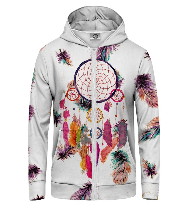 Feathers Dreamcatcher Zip Up Hoodie Miniature 1