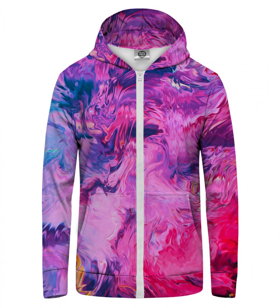 Mr. Gugu & Miss Go, Modern Painting Zip Up Hoodie Image $i
