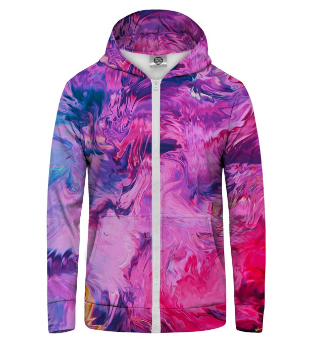 Modern Painting Zip Up Hoodie Miniature 1