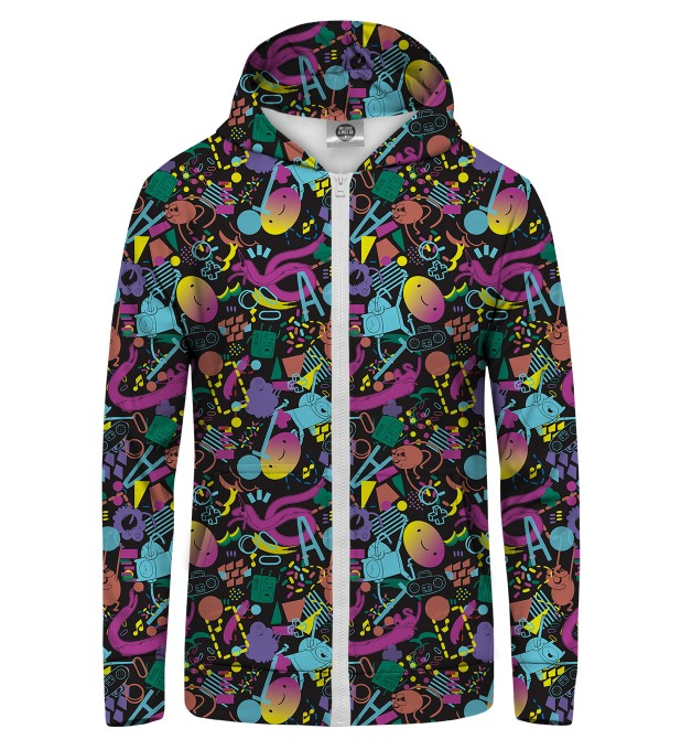 Friends Party Zip Up Hoodie Thumbnail 1