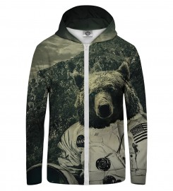 Mr. Gugu & Miss Go, NASA Bear Zip Up Hoodie Thumbnail $i