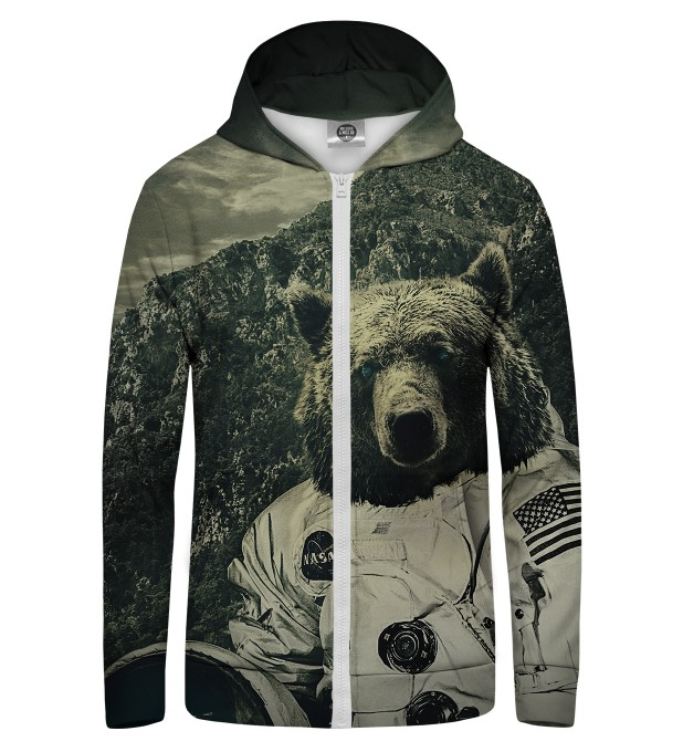 NASA Bear Zip Up Hoodie Thumbnail 1