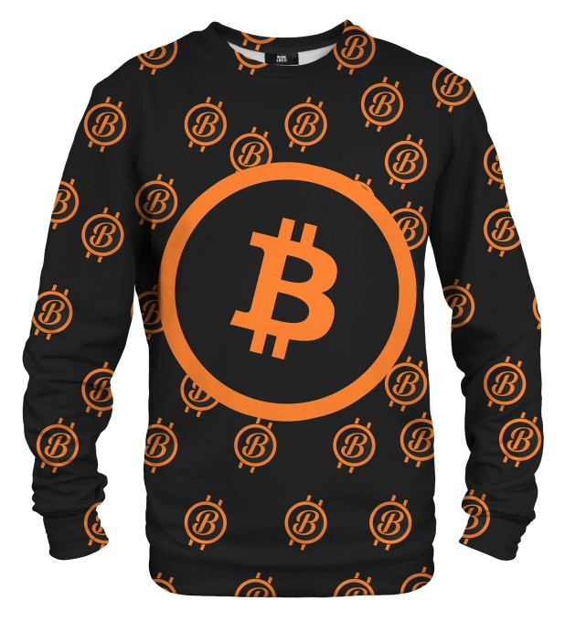Bitcoin pattern sweater Miniatura 1
