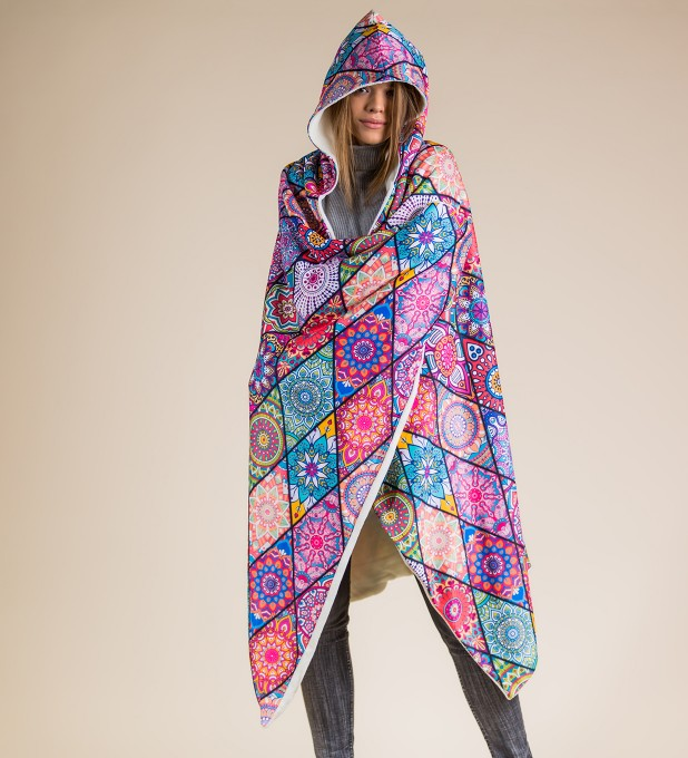 Stained glass hooded blanket Thumbnail 1