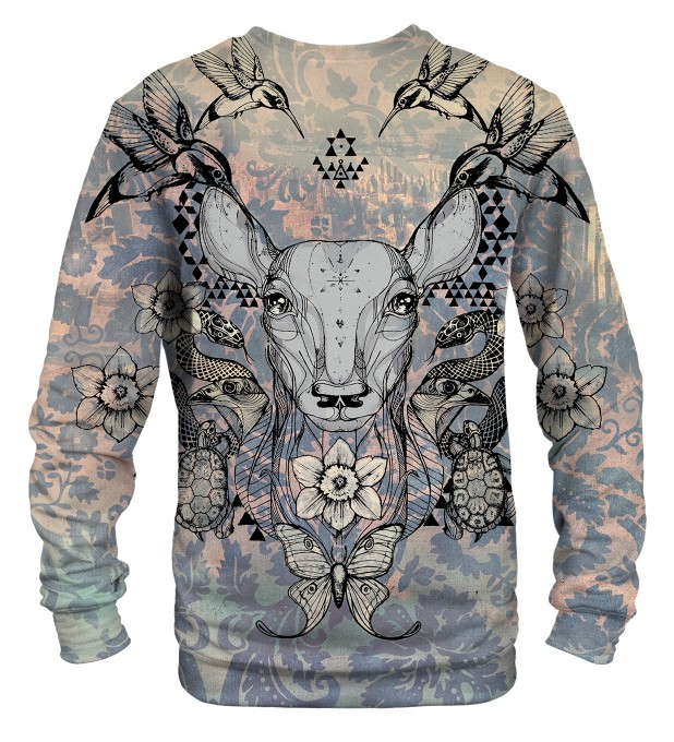 Deer Colage sweater Thumbnail 2