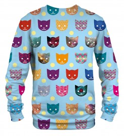 Mr. Gugu & Miss Go, Funny Cats sweater Thumbnail $i