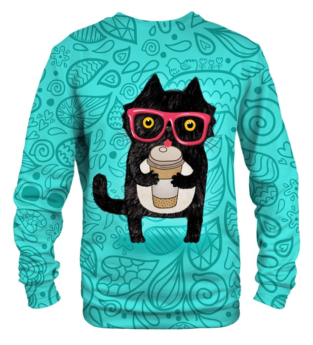 Coffee Cat sweater Miniature 2