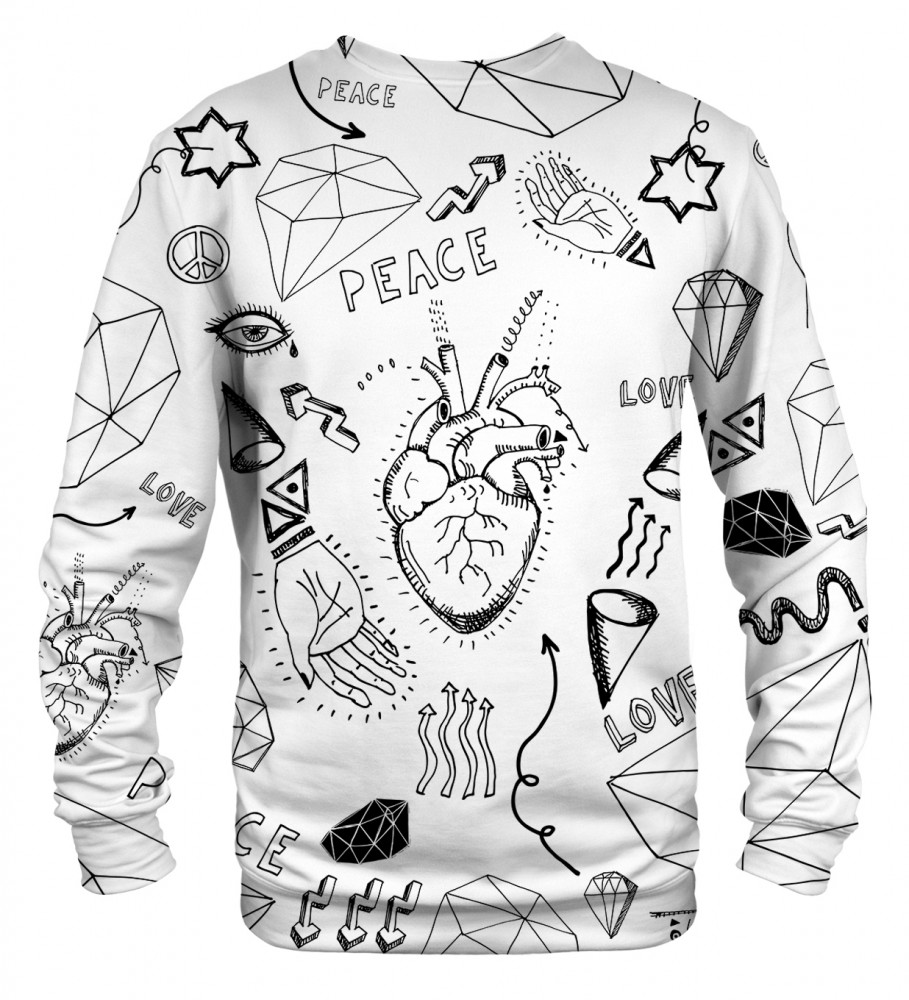 Mr. Gugu & Miss Go, Love icons sweater Image $i