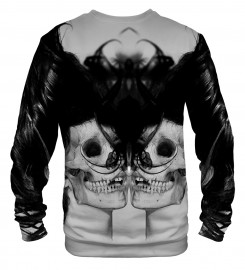 Mr. Gugu & Miss Go, Black Skull Girl Net sweater Thumbnail $i