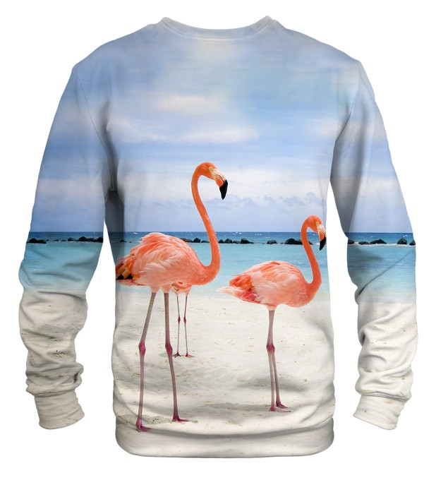 Flamingos On The Beach sweater Thumbnail 2