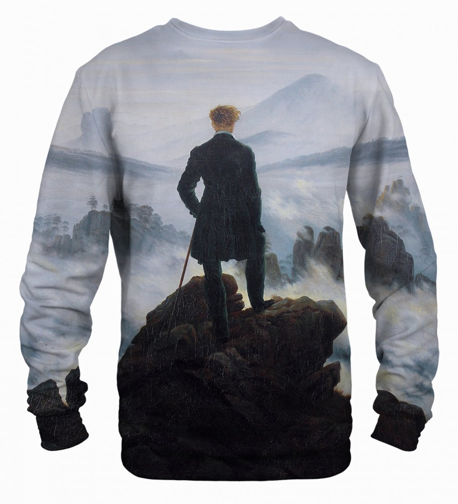 Mr. Gugu & Miss Go, Wanderer above the Sea of Fog sweater Image $i