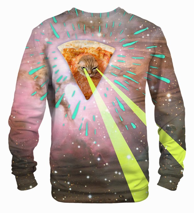 Super Pizza Laser Cat sweater Thumbnail 2