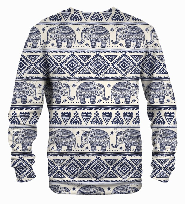 Elephants Pattern sweater Thumbnail 2