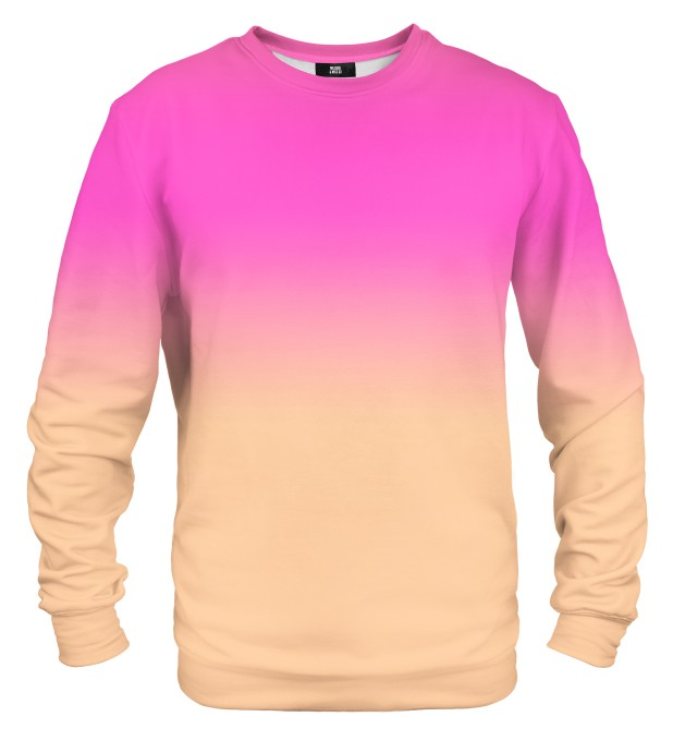 Pink & Orange Ombre sweatshirt Miniaturbild 1