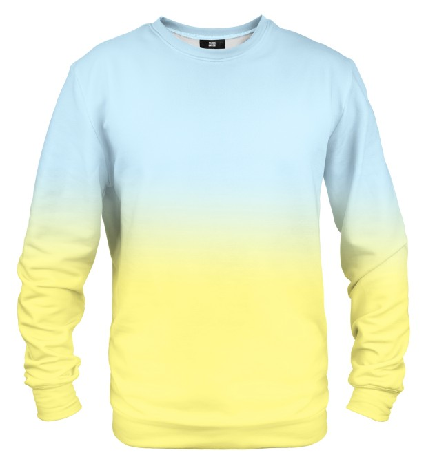 Blue & Yellow Ombre sweatshirt Miniaturbild 1